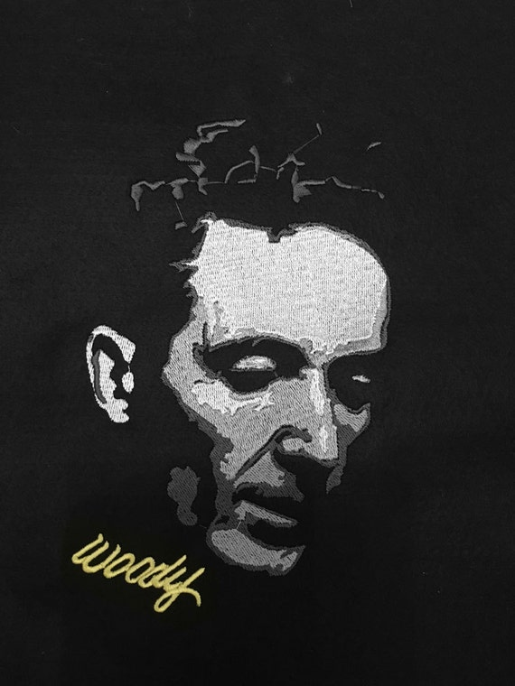 Embroidery Pattern - Woodie Guthrie