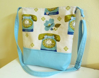 Rotary Telephones Crossbody Bag, Retro Style Tote Bag Purse