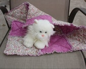 Cat Bed, Cat Quilt, Rose Cat Bed, Small Dog Bed, Pet Travel Blanket, Crate Blanket, Fabric Pet Bed, Pet Bed, Luxury Pet Blanket, Cat nip Bed