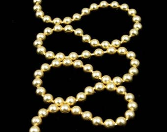 2.3mm Matte Gold Ball Chain #CC43