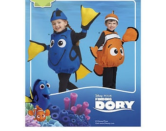 Simplicity Pattern 8239 Disney Finding Dory Costumes for Toddlers Size 1/2 to 4