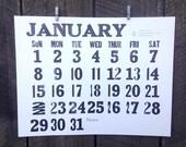 PRE-ORDER 2017 Letterpress Wall Calendar