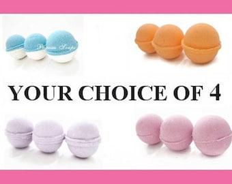 Your Choice of 4  Bath Bomb Fizzy Relaxing Bath, Fizzy Bath, Handmade Bath Bomb, Mother's Day, Vegan Friendly