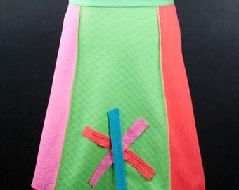 Rainbow Sherbert A-Line Skirt   Multiple Sizes