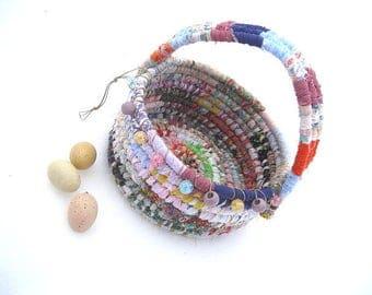 JAMBOREE  textile art Basket  Bucket EASTER