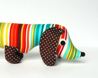 Stuffed Wiener Dog, Wiener Dog Plush, Stuffed Dachshund DOTTY