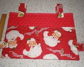 Christmas Santa Holiday Print Walker Bag