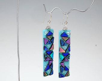 Turquoise Jewel Mosaic earrings