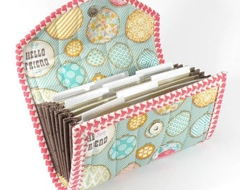 COUPON / EXPENSE / RECEIPT Organizer - Hoops - Coupon Organizer Coupon Holder Cash Budget Pastels