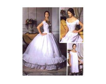 Misses Corset Chemise and Petticoat Costume Martha McCain Fashion Historian Simplicity 5726 Sewing Pattern Size 6 - 8 - 10 - 12 Uncut