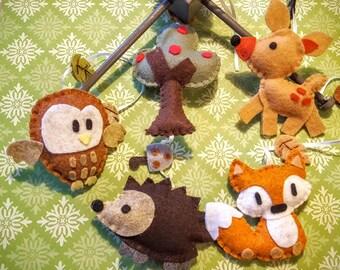 "Baby Crib Mobile - Baby Mobile - Nursery Forest Crib Mobile -""Woodland Wonders"""