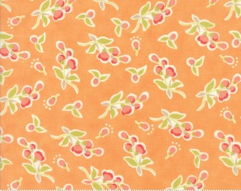 Coney Island - Posies in Orange Sherbet: sku 20282-15 cotton quilting fabric by Fig Tree and Co. for Moda Fabrics - 1 yard