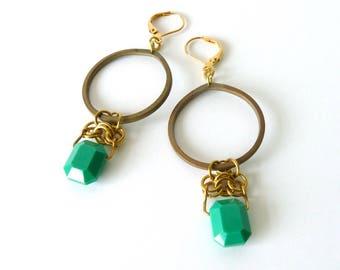 Regal Swarovski Loop Earrings