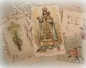 antique art nouveau era french holy cards italian holy card die cut religious ephemera