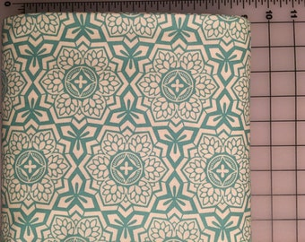 Joel Dewberry Botanique Mosaic Bloom in Teal Modern Cotton Fabric by the Yard