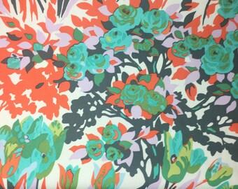 Amy Bulter Violette Meadow Blossoms Blush Cotton Sateen