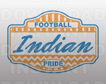 Football Indian Pride SVG File -Commercial & Personal Use- Vector Art SVG For Cricut,Silhouette ...