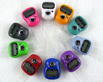 Digital Row Counter for Knitting and Crocheting - 10 Colors Available - Item 1000