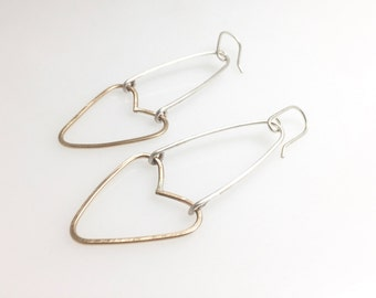 gold-filled heart earrings