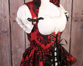 M Red and Black Grace Valkyrie Corset