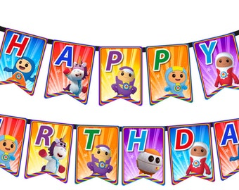 Go Jetters - Happy Birthday flag banner