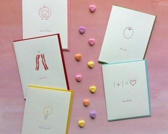 Bundle of Five Love Cards