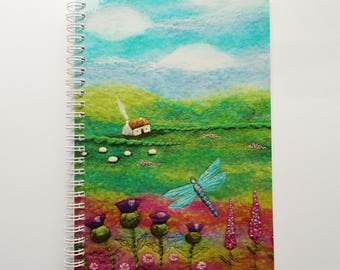 A5 Dragonfly Notebook with Printed Cover