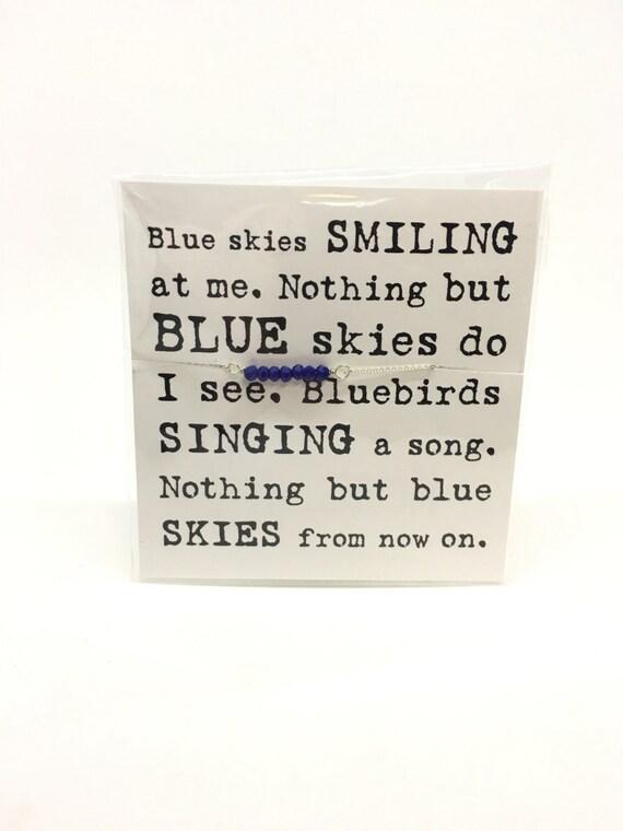 SALE! Blue choker necklace blue glass silver necklace