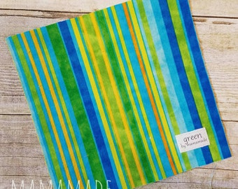 Blue Stripes - Reusable Sandwich Bag | Snack Bag | Waterproof | Travel Bag from green by mamamade