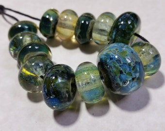 Lampwork Borosilicate Beads CURRENTS Two Sisters Designs 102316A