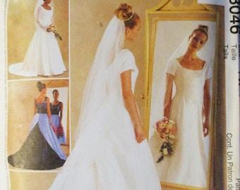 Misses Sewing Pattern McCalls 3046 Misses Bridal Gown & Bridesmaids Dress Pattern Size 18, 20, 22 Uncut