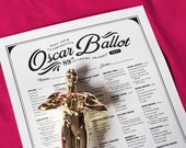 2017 Oscar Ballot-Oscars Party Game with Points System. Matches my FREE Oscar Bingo Game.