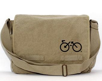 Messenger Bag   BIKE   Gift for Women   Camera Bag   Crossbody   Travel Canvas Bag   Large   Biking Gift   Gift for Men   Gift for Husband