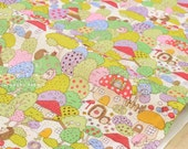 Japanese Fabric Kobayashi hedgehog village - cream - 50cm