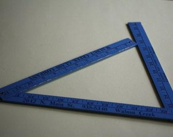 VINTAGE wooden folding tape measure / yard stick