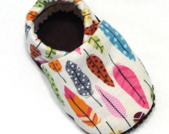 Feathers Soft Soled Baby Shoes 0-6 mo