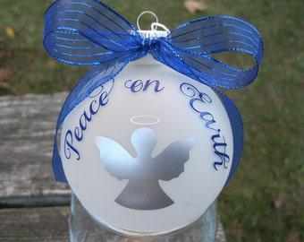 Peace on Earth Glass ball Ornament