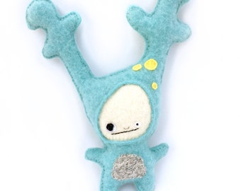 Blue Strange Foo - Recycled Cashmere Sweater Plush Toy
