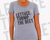 SALE lettuce turnip the beet ® trademark brand OFFICIAL SITE - fitted women's tshirt - L (8-10) only