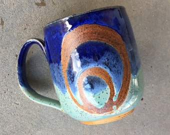Moonrise mug, coffee mug, tea cup, handmade pottery mug