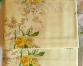 BIG SALE - Yellow Floral Pillow Cases - New - Unused - Danville - NIP - Nos - Flowers - Pale Yellow Cases - No-Iron Percale Pillowcases - Vi