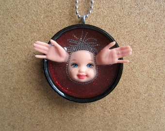 SALE ITEM - Little Kelly Angel  -  Upcycled Doll Pendant