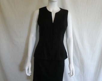SALE 90s RAMPAGE skirt top set, Black skirt and top outfit, size 5