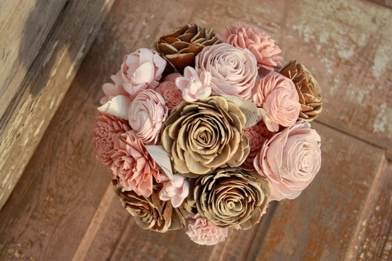 Rose gold wedding flowers collection 13 wallpapers for Gold flowers for wedding bouquet