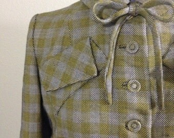 Vintage 40s plaid wool jacket ~ 50s ~ retro ~ rockabilly