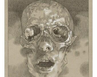 "Death Rasp 11"" x 14"" print Steven Russell Black"