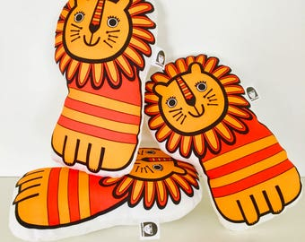 NEW retro toy lions by Jane Foster - Scandi plush suitable for all ages