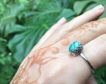 Amazonite royal ring // made to your size // recycled sterling silver // made in byron bay
