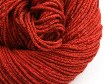 Hand Dyed Aran weight mini Empire Rambouillet Wool 213 yds 4oz Those Soles
