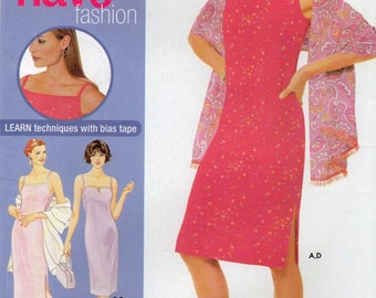 Simplicity 0609 Misses/Miss Petite Dress In Two Lengths,Shawl And Purse Uncut Pattern Size 12-14-16-18 Copyright 2001